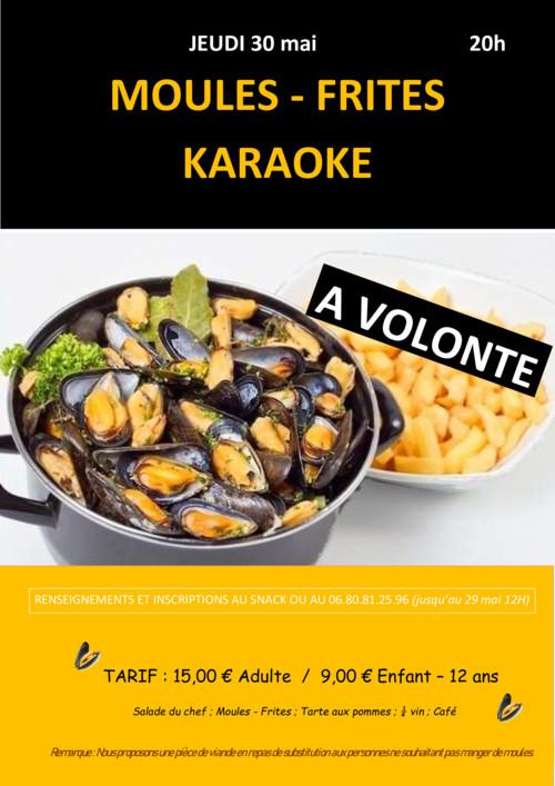 SOIREE MOULES-FRITES KARAOKE